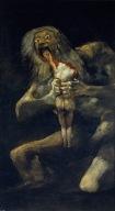 """Saturne dévorant un de ses fils"", Francisco de Goya"