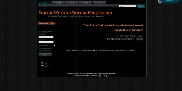 Capture d'écran du site tel qu'il était avant sa suppression