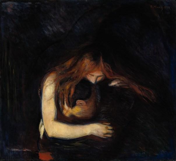 On parle de vampire, fallait bien que je place l'un de mes tableaux préféré non? (Le Vampire, de Munch)